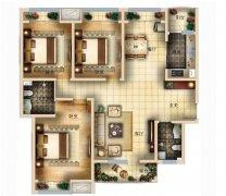 三室一厅平面设计-三室一厅平面设计图